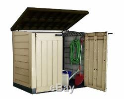Keter Store-It-Out Max Garden Storage Box Plastic Outdoor Wheelie Bin Tools Shed