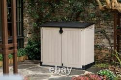 Keter Store It Out Midi Lockable Outdoor Garden Storage Box 880L Beige/Brown