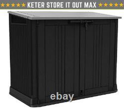 Keter Store It Out Nova Garden Lockable Storage Box Shed Outside Bike Bin Tool