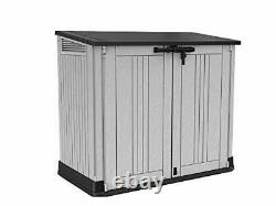 Keter Store it Out Nova Light Grey Waterproof Garden Bin Storage Container