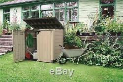 Keter XL Plastic Storage Box Garden Shed Bike Tools Wheelie Bins Patio Furniture