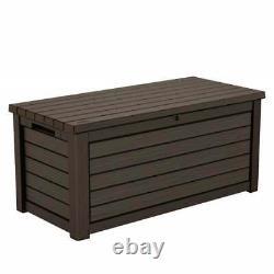 Keter XXL Waterproof Storage Box Bench Soft Close Pistons 625L 5 Year Guarantee