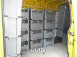 Large Plastic Van Shelving Storage Bins Boxes stackable space bin X 5