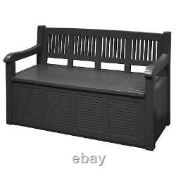 Large Waterproof Plastic Outdoor Garden Seat Bench With Storage Box Container