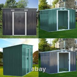 Large Yard Garden Shed Storage Store Door Metal Roof Building Tool Box Container