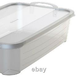 Life Story Clear Stackable Closet & Storage Box 34 Quart Containers, (12 Pack)