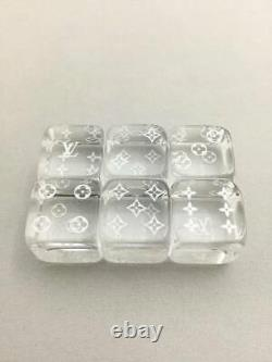 Louis Vuitton Rare Dice Monogram Clear Acrylic plastic With storage box case