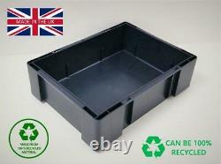 NEW Stackable Plastic Heavy Duty Storage Box, UK manufactured 400mm x 300mm Euro