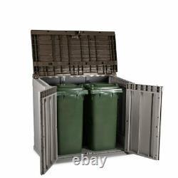 Outdoor & Indoor Garden Storage Box Shed Bin Store 2 Door Front Access 842L