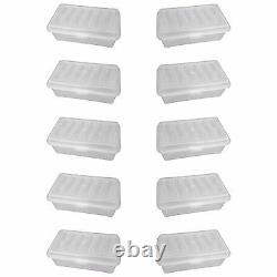Pack Of 10 Clear Storage Box With LID / Shoe Box / Plastic / Clear