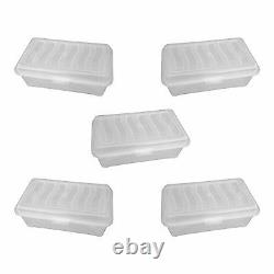 Pack Of 5 Clear Storage Box With LID / Shoe Box / Plastic / Clear