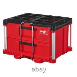 Packout Milwaukee 2 Drawer Tool Box Storage System Ball Bearing Drawer Slides