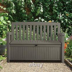 Plastic Brown Garden storage box Bench Solutions Waterproof