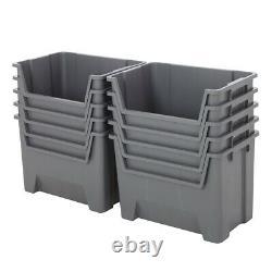 Plastic Stacking Bins Order Picking Boxes Open Front Garage & Industrial Storage