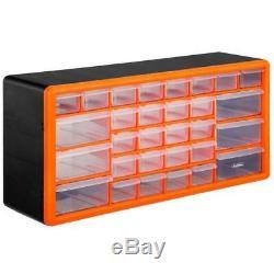 Plastic Storage 30 Drawer Organiser Cabinet Unit Screw Box Garage Shed Workshop