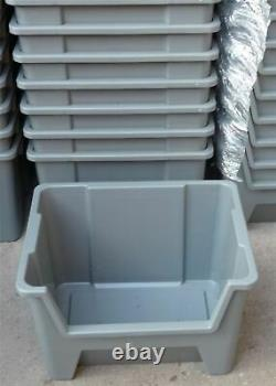 Plastic Storage Bins Order Picking Parts Boxes Scooped Front Stack Nest X 20