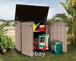 Plastic Storage Box Home Garden Patio Outdoor Shed Bins Tools Chest Weatherproof