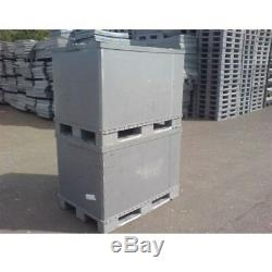 Plastic Storage Pallet Box Container 500kg Capacity Set Of 5 Euro Sleevepack