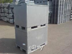 Plastic Storage Pallet Box Container 500kg Capacity Set Of 5 Grade B Euro