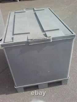 Plastic Storage Pallet Box Container (970h) 500kg Capacity Set Of 5 Grade A