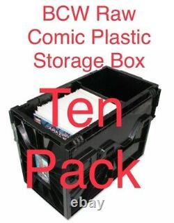 Preorder 10 Pack BCW Raw Comic Book Storage Plastic Bin Stackable Boxes