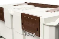 Reisser FULLSTACK 1 Crate Mate 3 Stacked Tool Box Case Storage Kit & Trolley Set