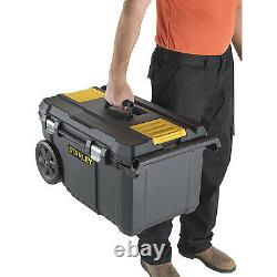 Rolling Heavy Duty Large Black Chest Tool Box Storage On Wheels With Handle 50L