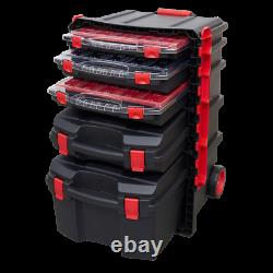 Sealey Tools AP860 Professional Tool Box Trolley with 5 Tool Storage Cases Stack