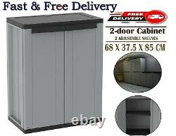Small Deck Storage Plastic Shelves Unit Cupboard Garden Shed Outdoor Utility Box