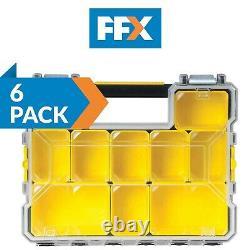 Stanley STA197518 FatMax Deep Pro Organiser Tool Screw Storage Case Box 6 Pack