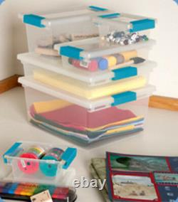 Sterilite Large Plastic File Clip Box Storage Tote Container with Lid (18 Pack)