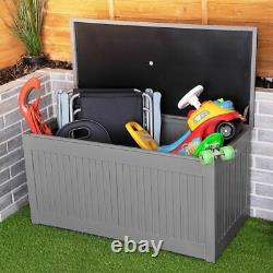 Storage Box Outdoor Garden Plastic Utility Chest Cushion Shed Box 290L Kids Home