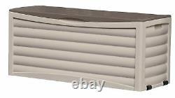 Suncast 103 Gallon Capacity Resin Outdoor Patio Storage Deck Box, Taupe