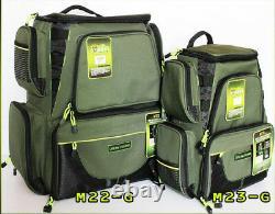 Tackle Bag Medium Box Lure Storage Fishing Backpack Travel Outdoor + Plastic Box