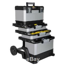 Tool Chest Box Mobile Rolling Workshop Storage Trolley Heavy Duty Wheels Cart