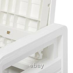 Toomax Foreverspring Deck Patio Garden Storage Box Chest Bench, 70 Gallon White