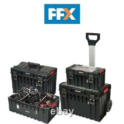 Trend Modular Storage Pro Cart Set 4pc Stackable Tool Box Kit Water Dust Resist
