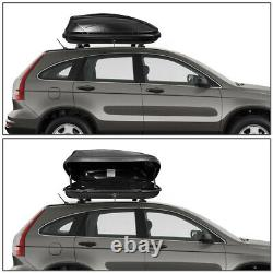 VEHICLE ROOF TOP STORAGE BOX BAGGAGE CARGO CARRIER With LOCK 53 L x 34 W x 15 H