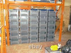Van Shelving Plastic Storage Bins Boxes With Scooped Front X 10