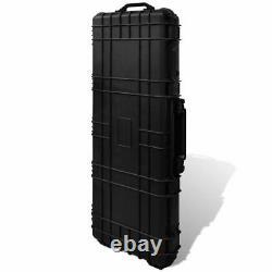 VidaXL Molded Gun Case Trolly Carry Case Plastic Waterproof Storage Box Unit