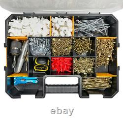 WrightFits Essential Tool Box Organiser Stackable Screw Storage Case Box 400