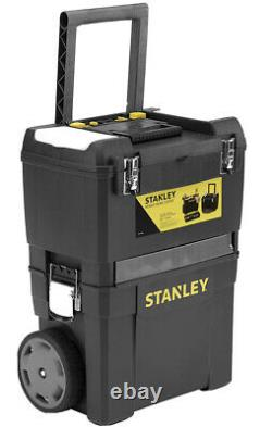 XL Stanley Mobile Work Centre 2 Pieces Storage Tool box On Wheels Handle Dewalt
