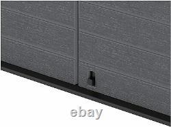 XL Store It Out Max Storage Garden Plastic Shed Grey Box, Lockable Unit