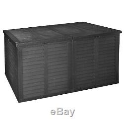 XXL Storage Rattan Cushion Box Garden Box Outdoor Plastic Tool Chest Double Lid